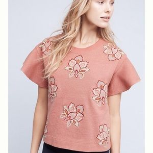 CHLOE OLIVER 'Padma' pink embroidered top